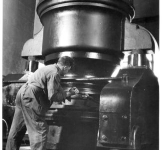 90 inch Engine Pump with Engineer, 1946